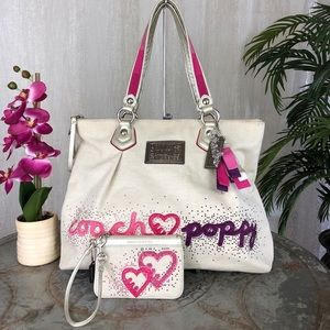 Coach Poppy Rhinestone Glam Hearts Set 16319
